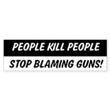 People Kill People 2nd Amendment Bumper Car Sticker