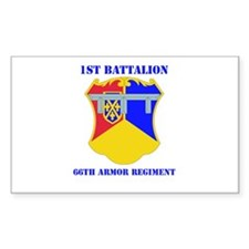 DUI - 1st Bn - 66th Armor Regt with Text Decal