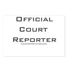 Official Court Reporter Postcards (Package of 8)