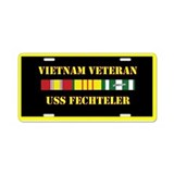USS Fechteler Aluminum License Plate