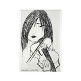 violin art Rectangle Magnet