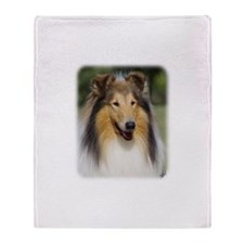 Collie Rough AA011D-031 Throw Blanket