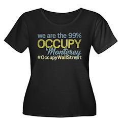 Occupy Monterey Women's Plus Size Scoop Neck Dark