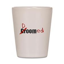 Funny wedding groom/doomed Shot Glass