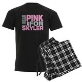 I wear pink for Skyler pajamas