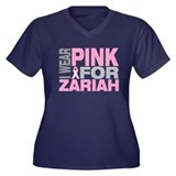 I wear pink for Zariah Women's Plus Size V-Neck Da