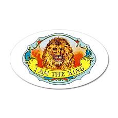 Lion King Cigar Label 22x14 Oval Wall Peel