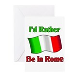 I'd Rather Be In Rome Greeting Cards (Pk of 10