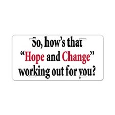 Hope and change Aluminum License Plate