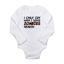 'Zombies Nearby' Long Sleeve Infant Bodysuit