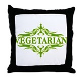 Vegetarian Throw Pillow