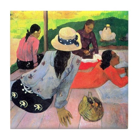 Siesta by Gauguin Tile Coaster