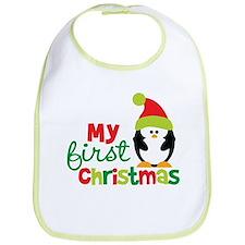 Penguin My 1st Christmas Bib