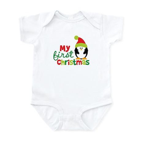 Penguin My 1st Christmas Infant Bodysuit