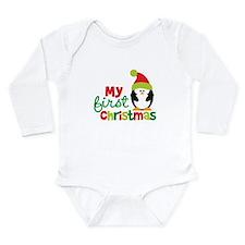 Penguin My 1st Christmas Long Sleeve Infant Bodysu