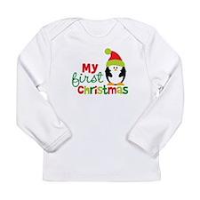 Penguin My 1st Christmas Long Sleeve Infant T-Shir