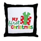 Present My 1st Christmas Throw Pillow