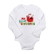 Santa My 1st Christmas Long Sleeve Infant Bodysuit