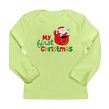 Santa My 1st Christmas Long Sleeve Infant T-Shirt