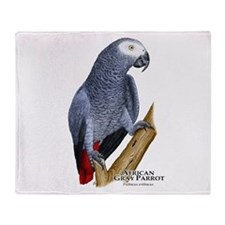 African Gray Parrot Throw Blanket