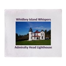 Admiralty Head Inlet Lighthou Throw Blanket
