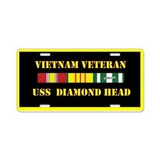 USS Diamond Head Aluminum License Plate