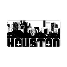 Houston Skyline Aluminum License Plate