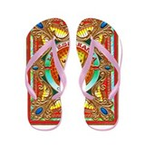 Cuban Art Cigar Label Flip Flops