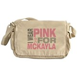 I wear pink for Mckayla Messenger Bag