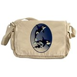 Killer Whale Family Messenger Bag