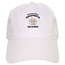 Proud New Grandpa Personalized Baseball Cap