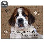 St Bernard Puppy Cookie Puzzle
