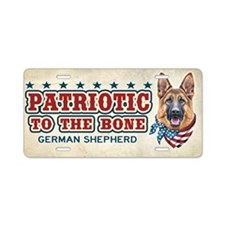 Patriotic - German Shepherd Aluminum License Plate