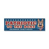 Patriotic - German Shepherd Car Magnet 10 x 3