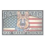 Patriotic - German Shepherd Decal