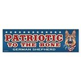 Patriotic - German Shepherd Bumper Sticker