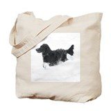 Cute Flat coated retriever Tote Bag