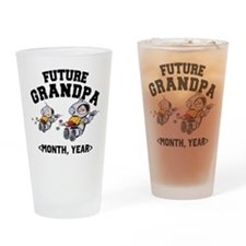 Personalized Future Grandpa Drinking Glass