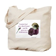 Cute Pekingese Tote Bag