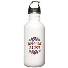Proud Aunt Sports Water Bottle