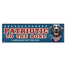 Patriotic - Black Lab Bumper Sticker