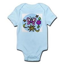 BUtterfly and Flowers Infant Creeper