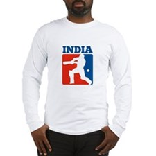 cricket batsman India Long Sleeve T-Shirt