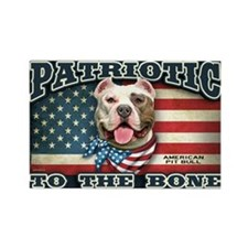 Patriotic - Pit Bull Rectangle Magnet