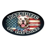 Patriotic - Pit Bull Decal