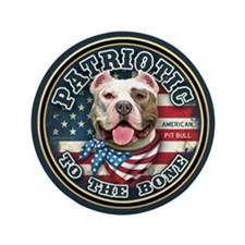 "Patriotic - Pit Bull 3.5"" Button (100 pack)"