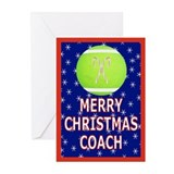 Christmas Tennis Coach Greeting Cards (Pk of 20)