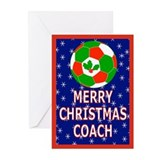 Christmas Soccer Coach Greeting Cards (Pk of 20)