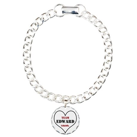 Team Edward Forever Charm Bracelet, One Charm