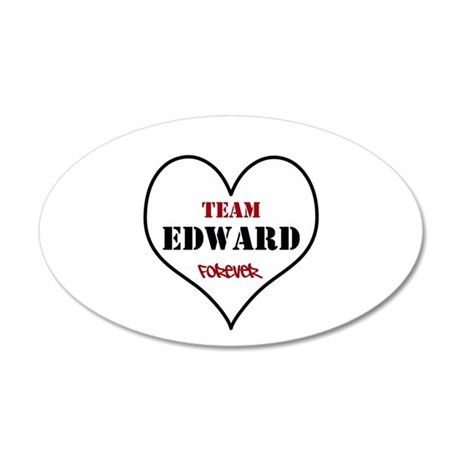 Team Edward Forever 38.5 x 24.5 Oval Wall Peel